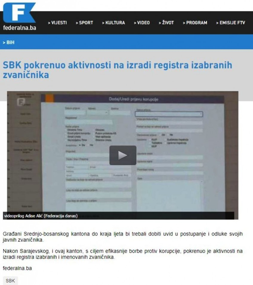 Borba protiv korupcije u SBK