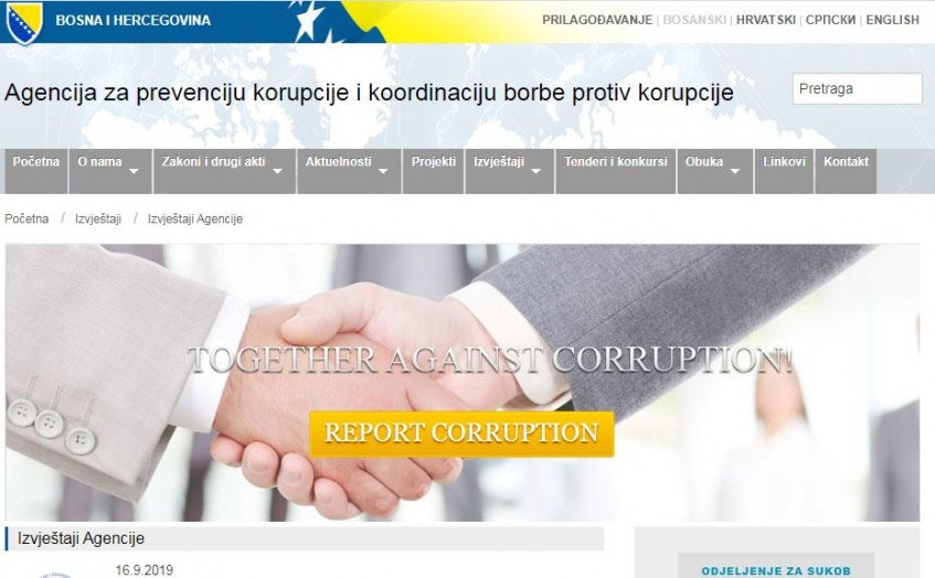 Izvještaj o provođenju Strategije za borbu protiv korupcije