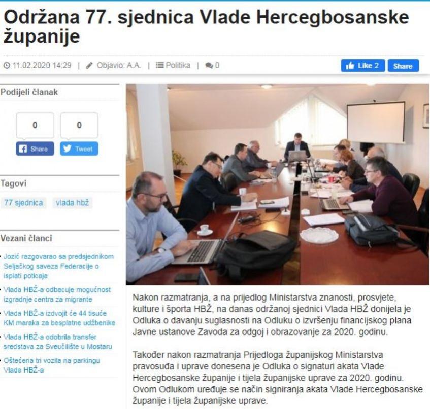 Imenovan Antikorupcioni tim, novi predsjednik Boris Paštar