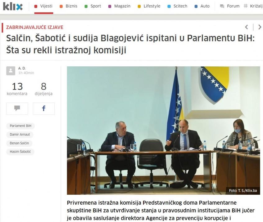 Direktor APIK-a pred istražnom komisijom parlamenta