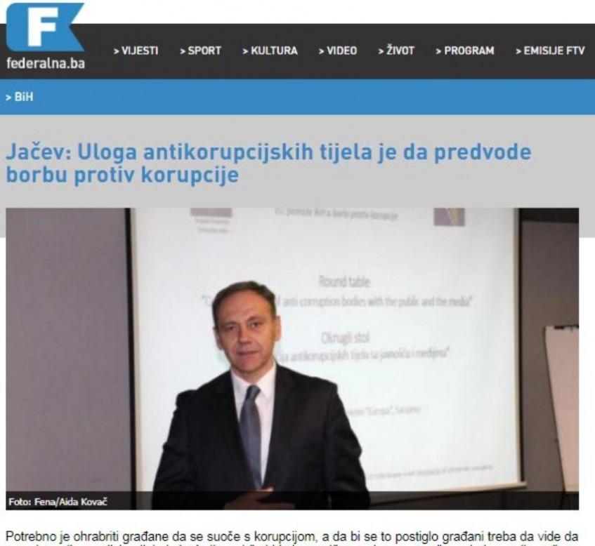 Jačev: Uloga antikorupcijskih tijela je da predvode borbu protiv korupcije