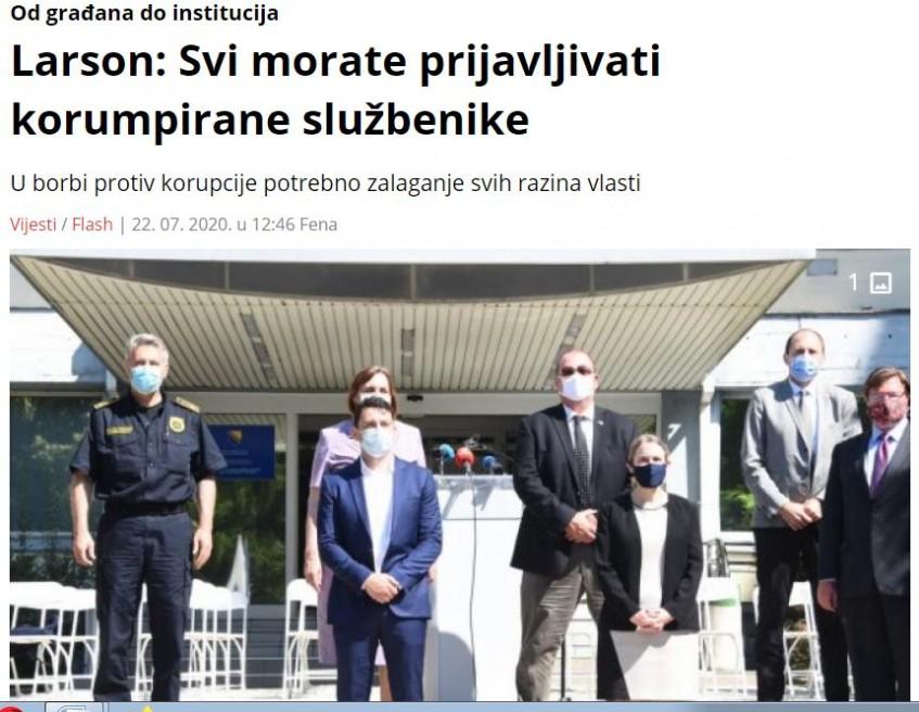 Samo narod ove zemlje može očistiti BiH od korupcije