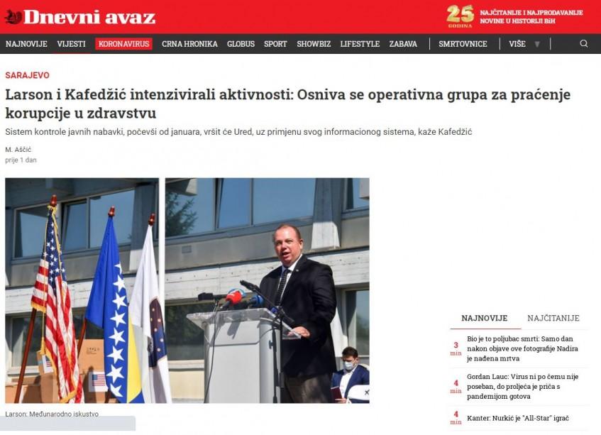 Operativna grupa za praćenje korupcije u zdravstvu