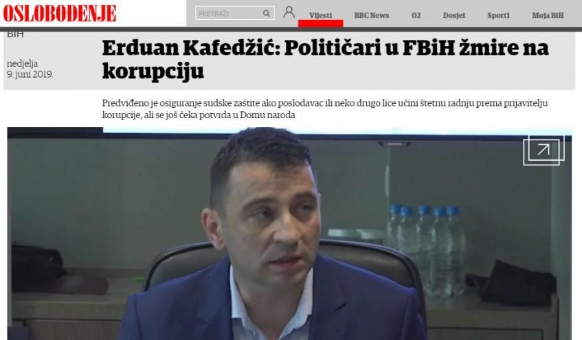 Erduan Kafedžić: Političari u FBiH žmire na korupciju