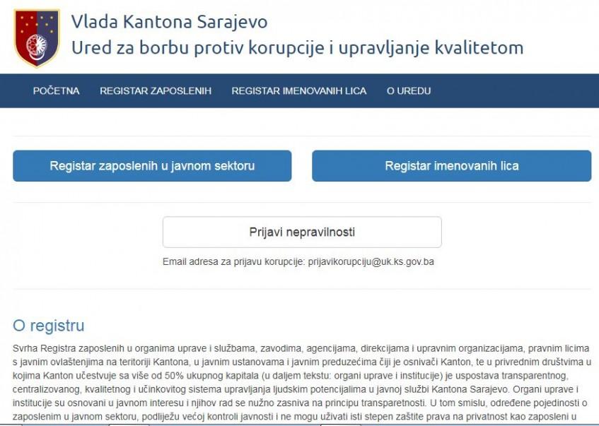 Dostupan registar funkcionera i zaposlenih u javnom sektoru u KS