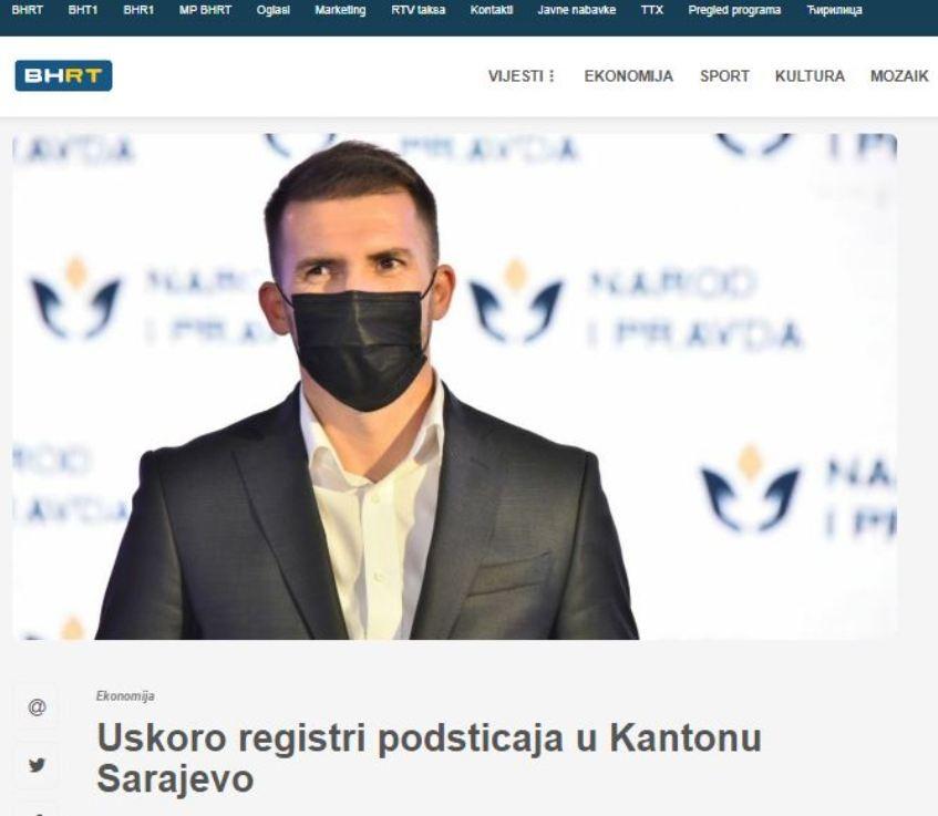 Uskoro registri podsticaja u Kantonu Sarajevo