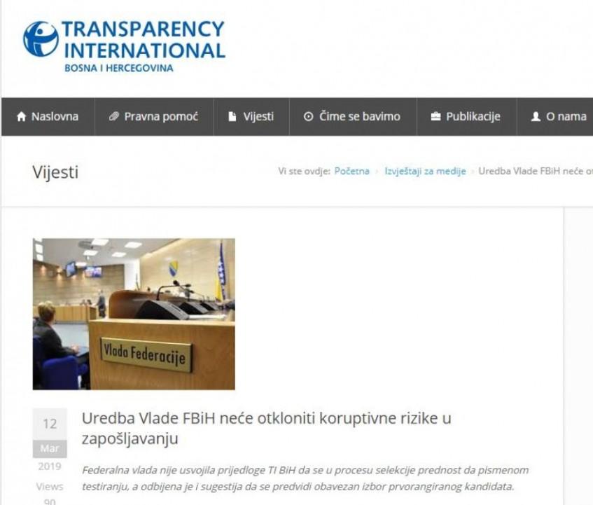 Uredba Vlade FBiH o zapošljavanju: Nije obavezan izbor prvorangiranog kandidata