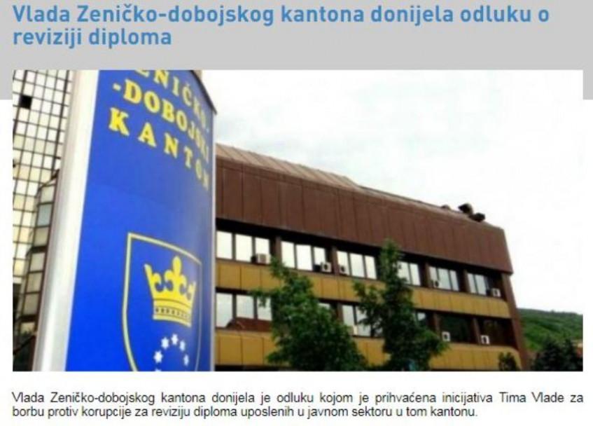 Revizija diploma zaposlenih u javnom sektoru u ZDK