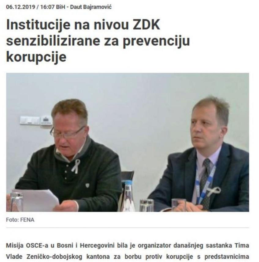 Prevencija korupcije na nivou ZDK