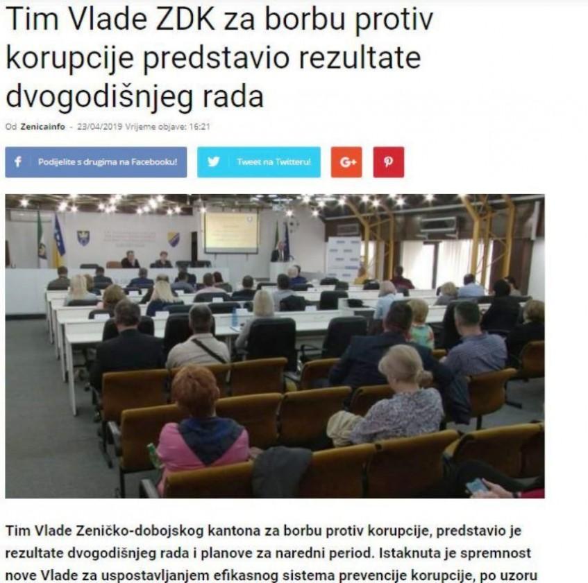 Tim Vlade ZDK za borbu protiv korupcije predstavio rezultate dvogodišnjeg rada