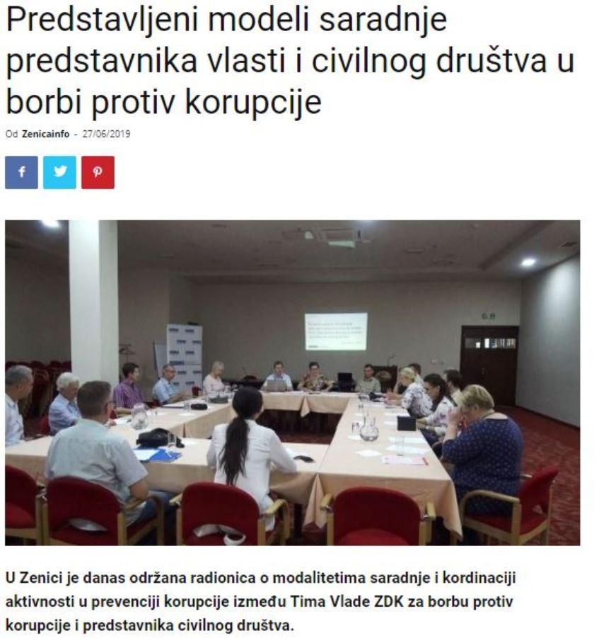 Predstavljeni modeli saradnje predstavnika vlasti i civilnog društva u borbi protiv korupcije